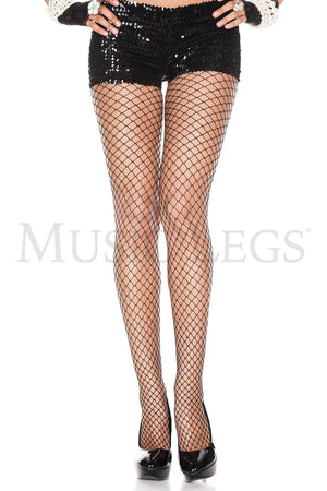 Mini Diamond Fishnet Tights Black
