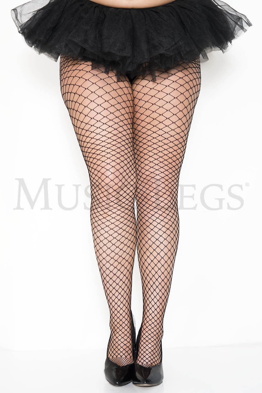 Mini Diamond Fishnet Plus Size Black