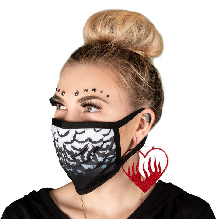 Fly Me Bats Face Mask