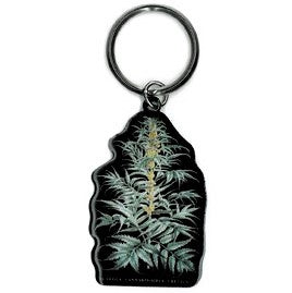 Cannabis Plant Key Chain