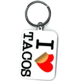 I Heart Tacos Key Chain
