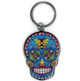 Candy Sugar Skull Key Chain