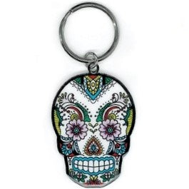 Lace Sugar Skull Key Chain