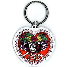 Flower Hat Sugar Skull Key Chain