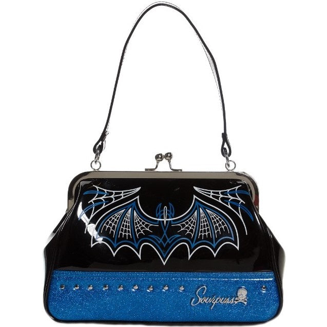 Batty Pinstripe Purse Blue
