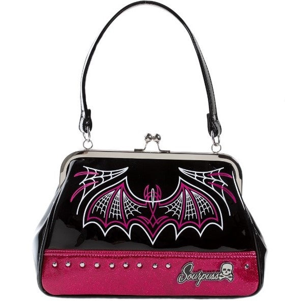 Batty Pinstripe Purse Pink