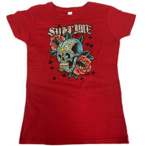 Sublime Skull with Roses Juniors Tee