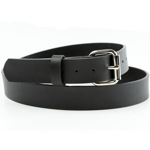 "1 1/2"" Black Leather Belt"