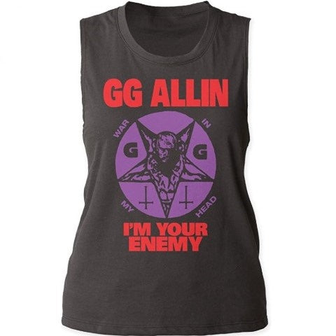 GG Allin I'm Your Enemy Muscle Tank