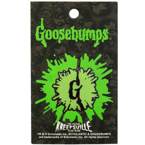 Goosebumps Splat Green Enamel Pin