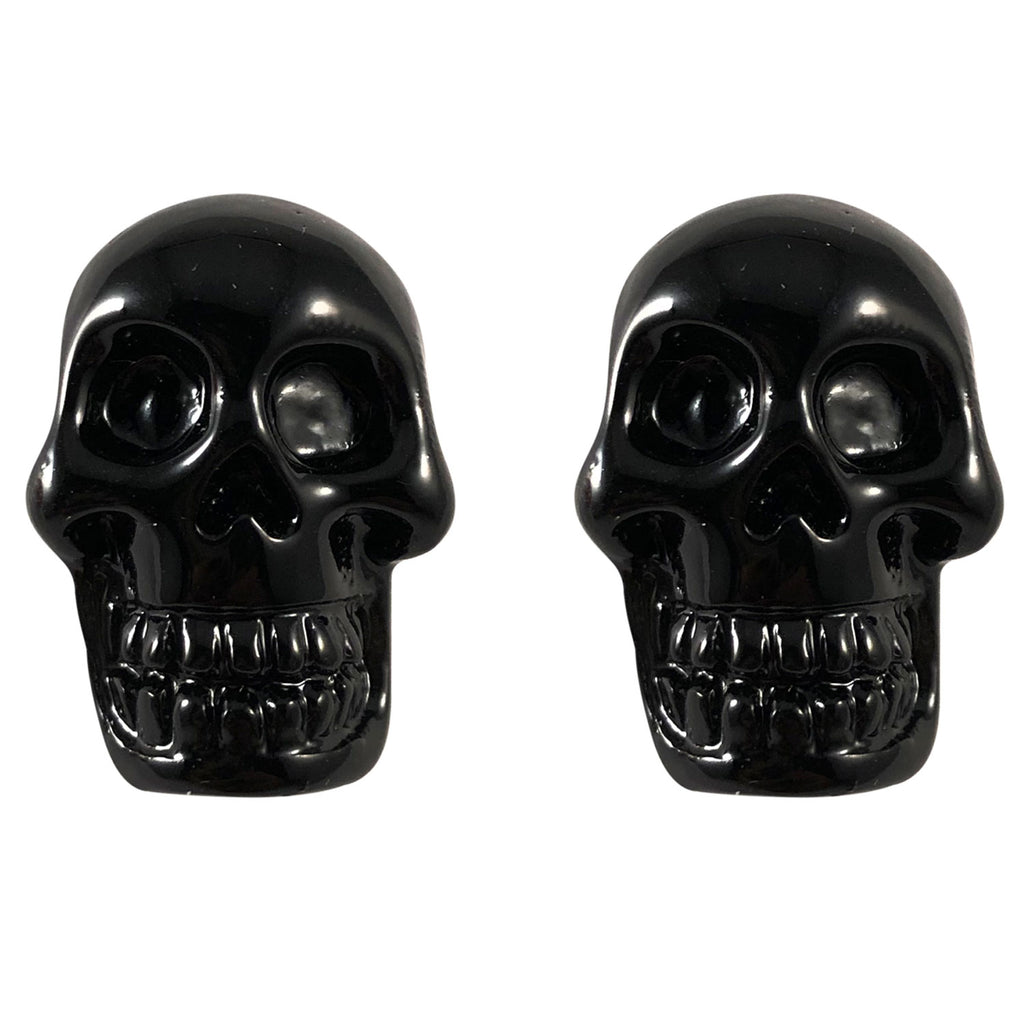 Skull Black Stud Earrings