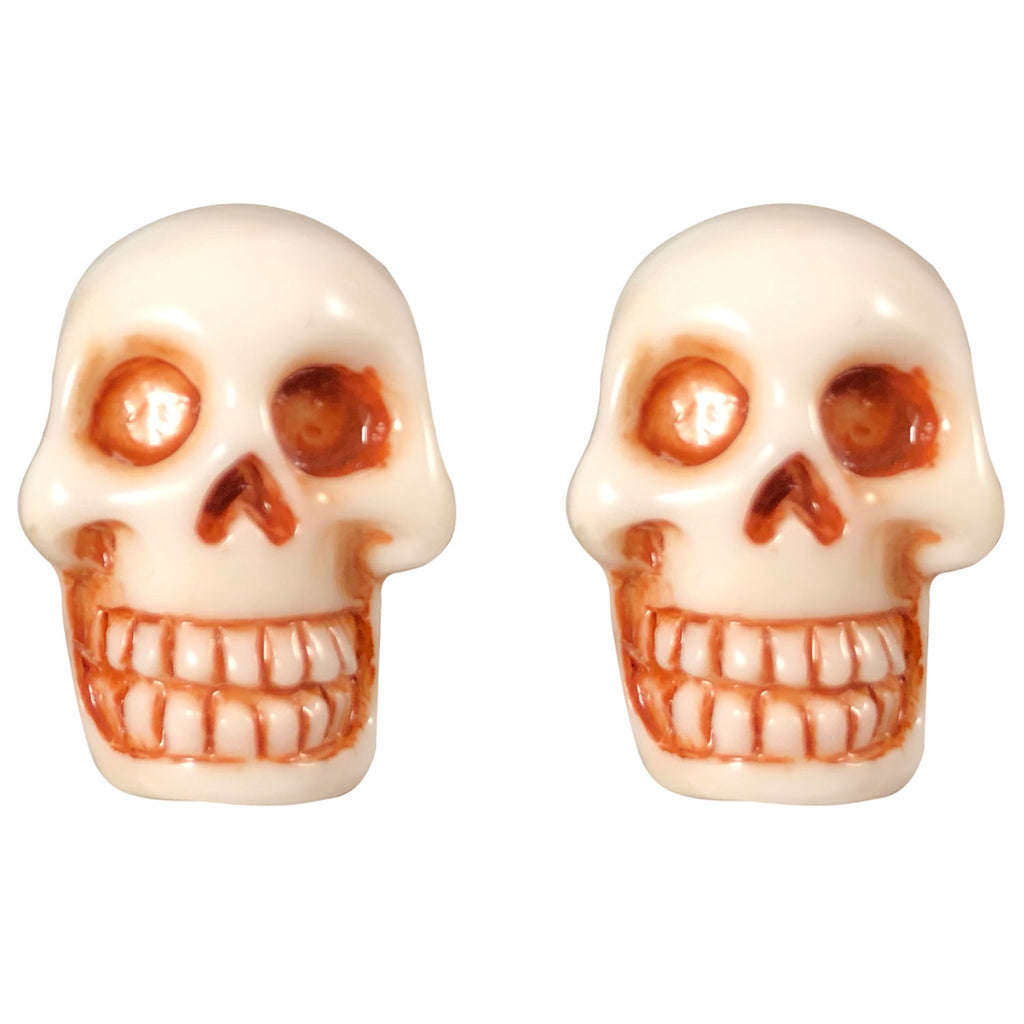 Skull White Stud Earrings