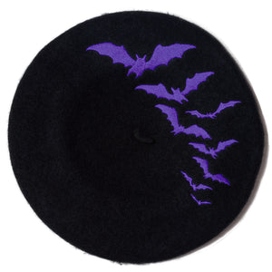 Beret-Bat Repeat Purple