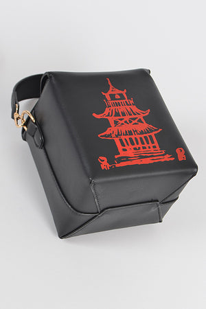 Black Chinese Takeaway Clutch