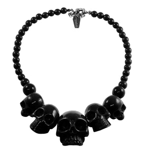 Skulls Black Necklace