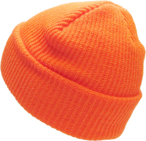 Neon Orange Slouch Solid Beanie