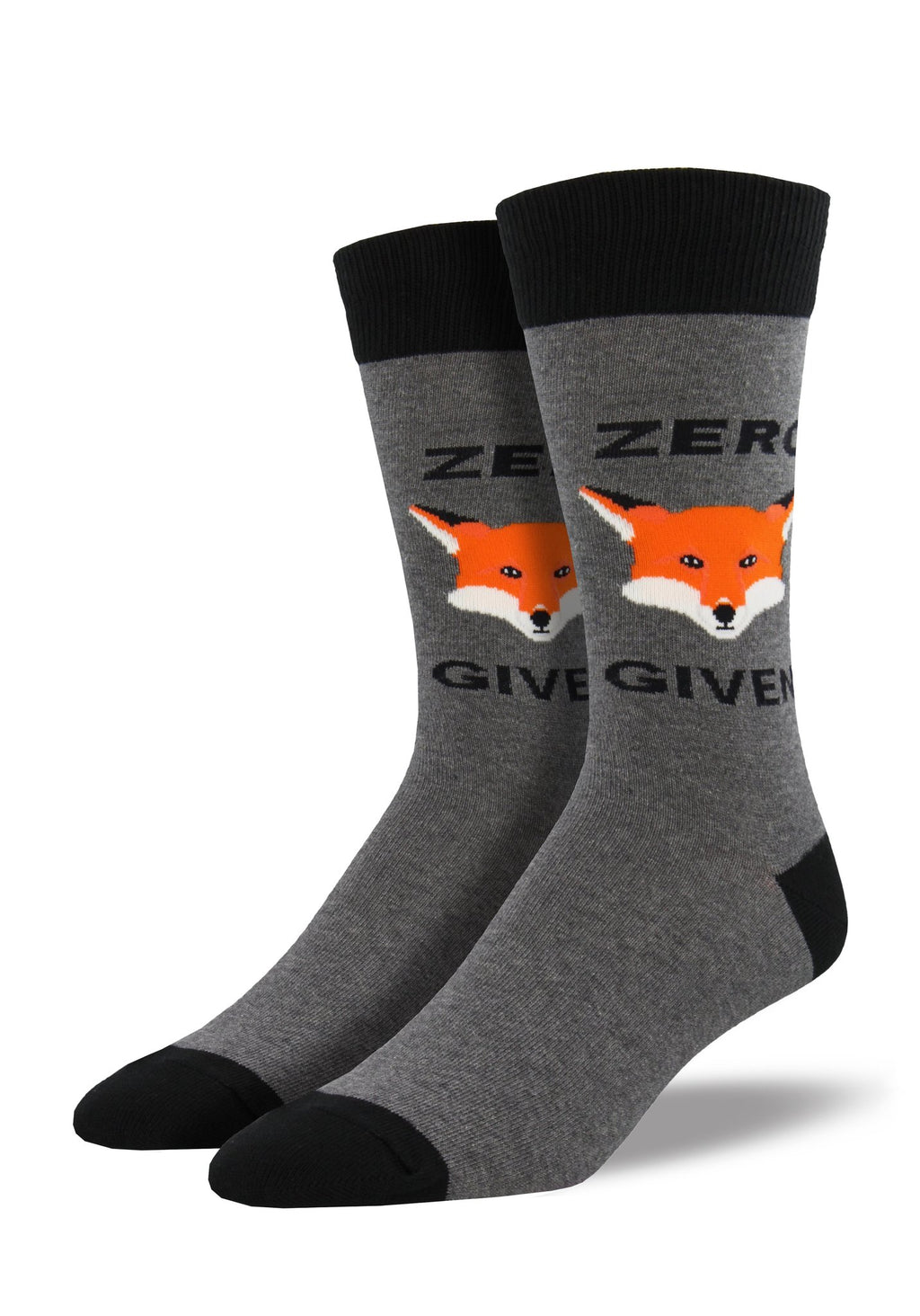 "Zero ""Fox"" Given Gray Heather Men's Socks"