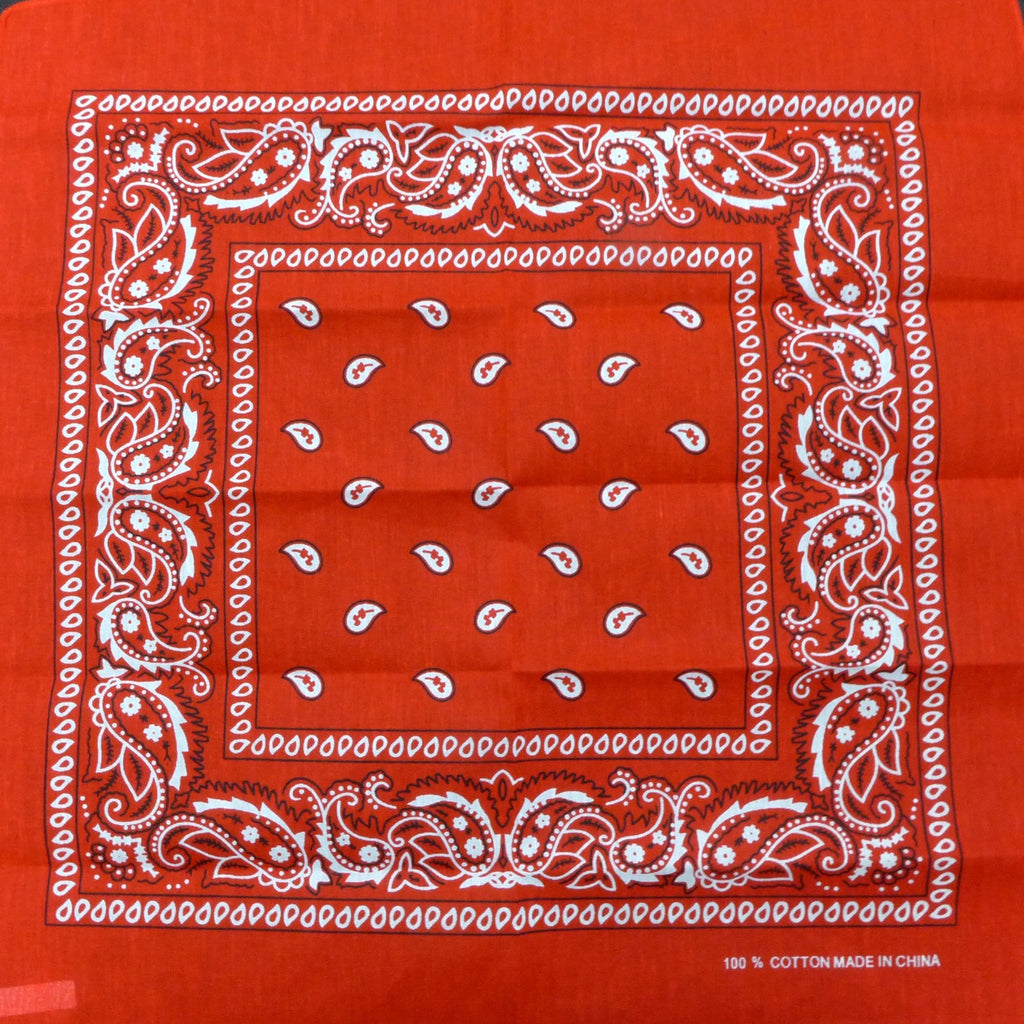 Red Paisley Square Bandana