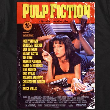 Pulp Fiction Poster on Black