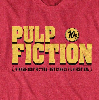 Pulp Fiction Logo on Red
