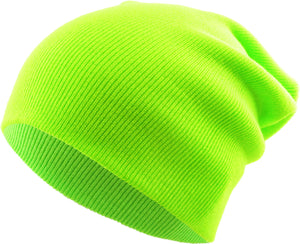 Neon Lime Long Beanie