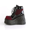 Stomp-18 Burgundy Wedge w/Charms