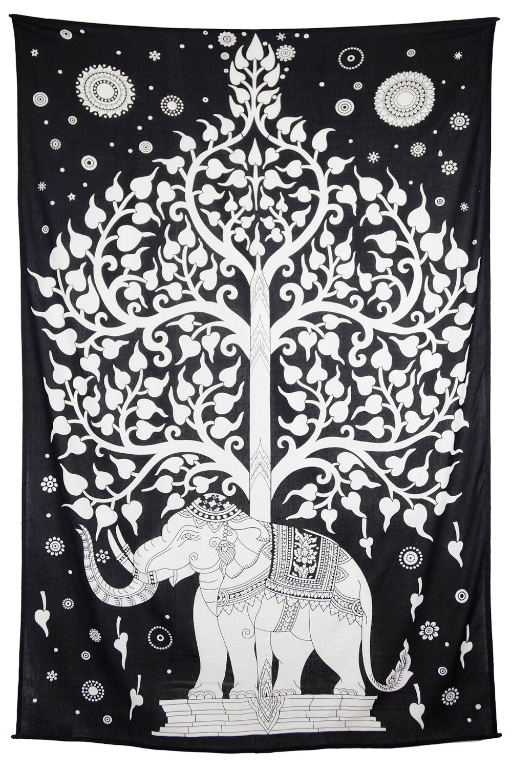 Elephant Tree Blk/Wht Tapestry