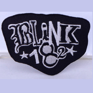 Blink 182 B/W Logo Rounded Patch