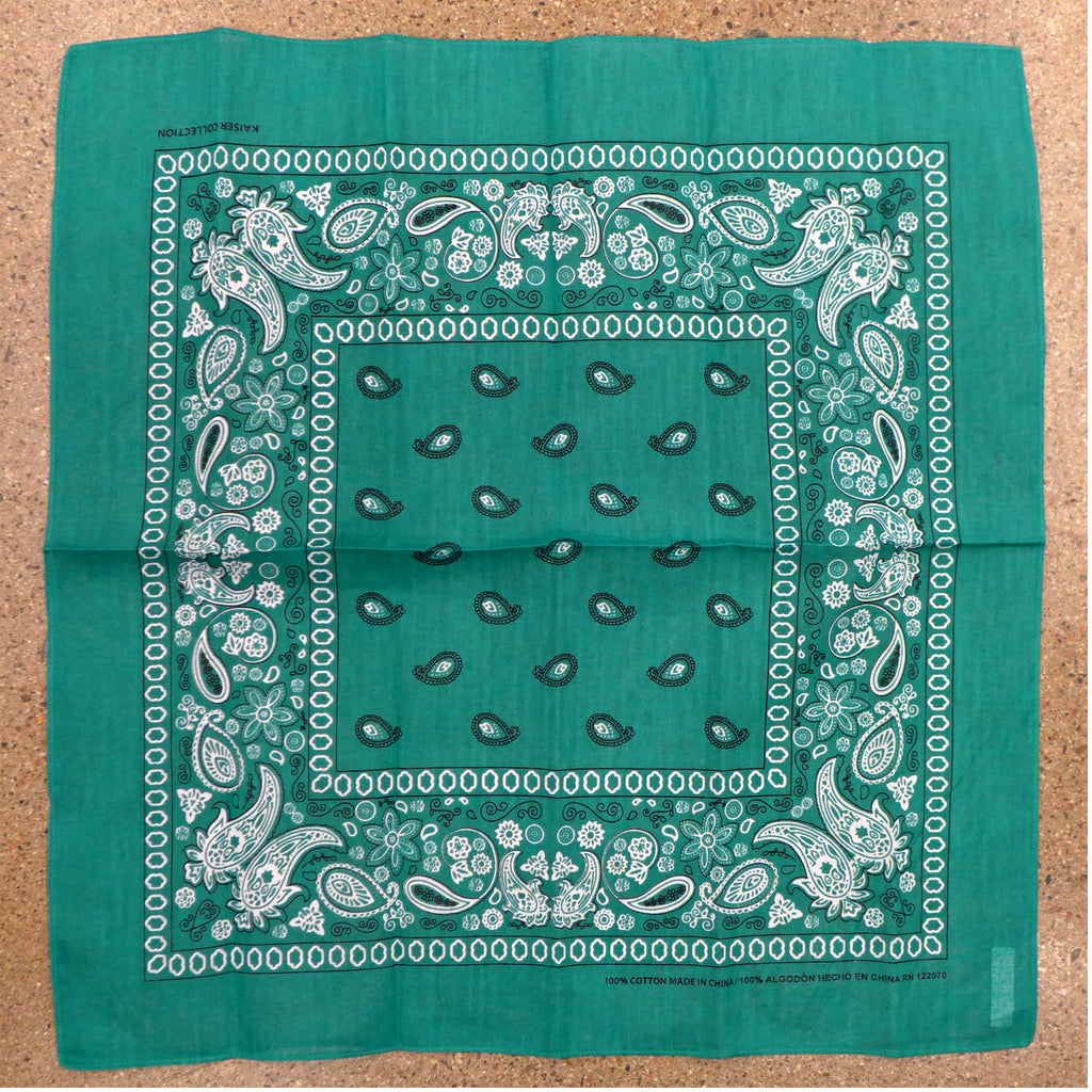 Green Bright Square Bandana