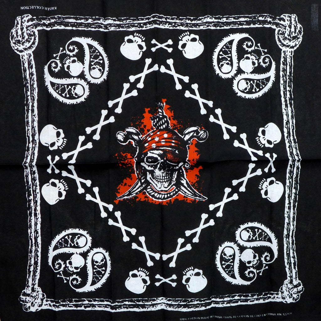 Pirate Skull Square Bandana