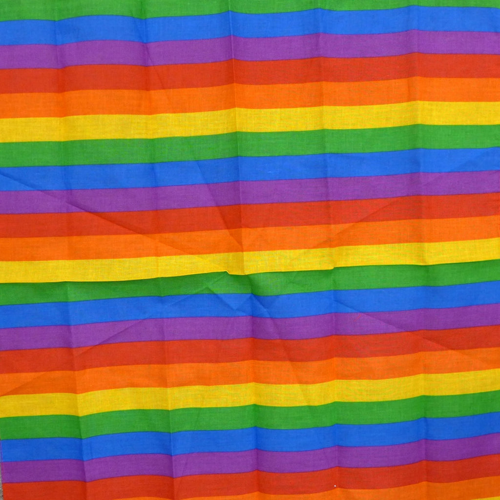 Rainbow Stripes Square Bandana
