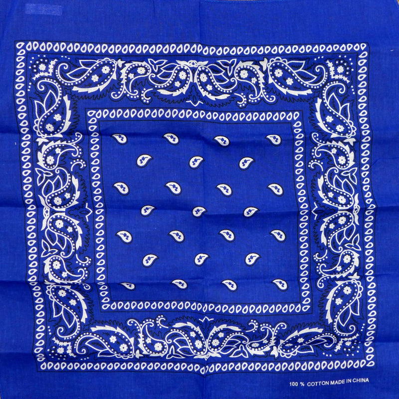 Royal Blue Paisley Square Bandana