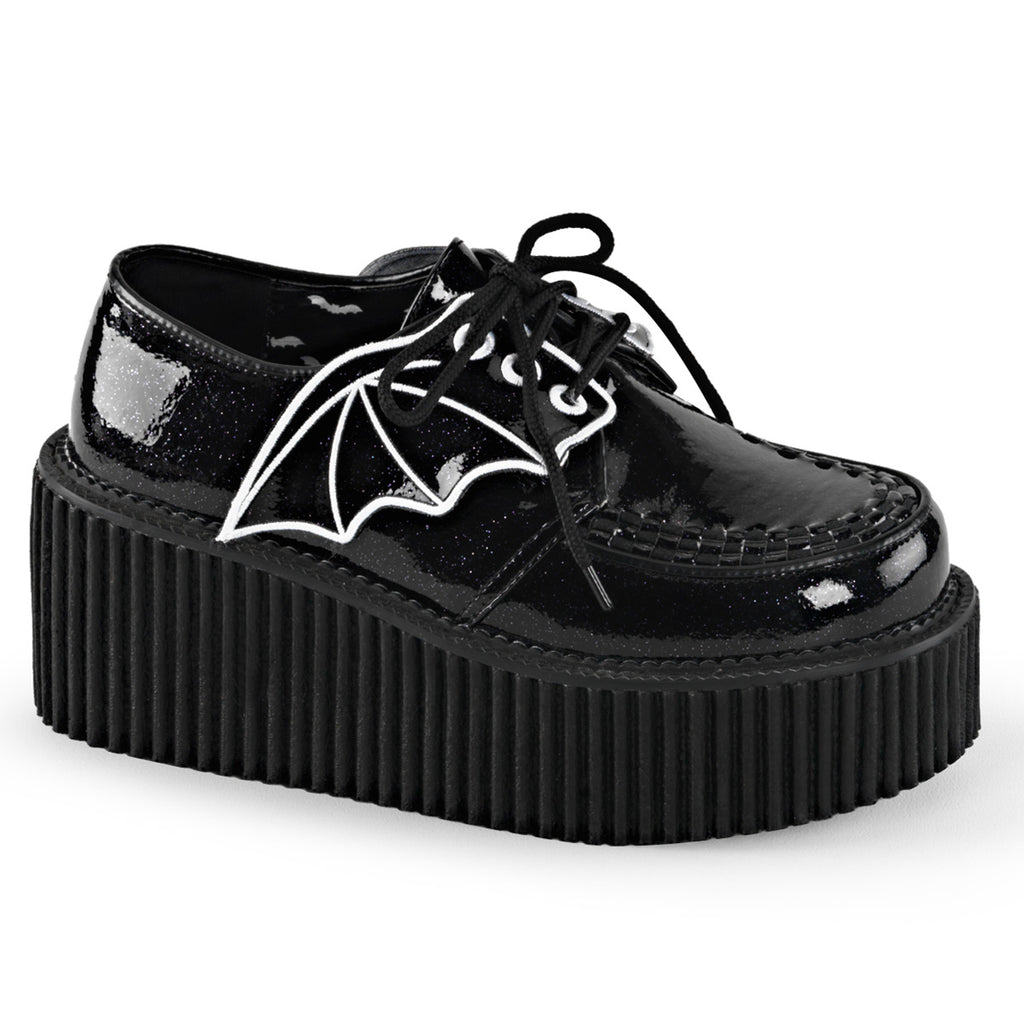 Creeper-Bat Wing Black Glitter