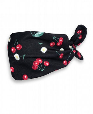 Daisy Cherry Black Headband