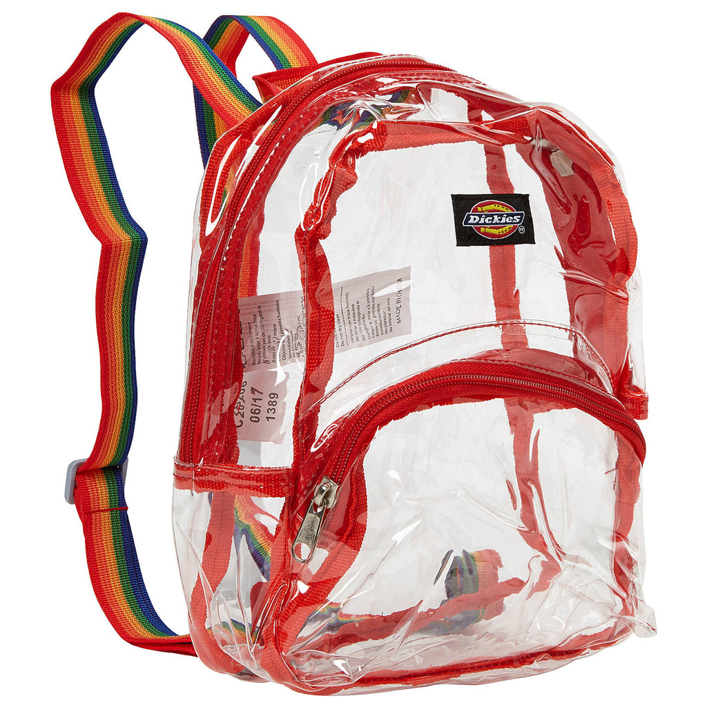 Copy of Dickies Mini Clear Rainbow Backpack