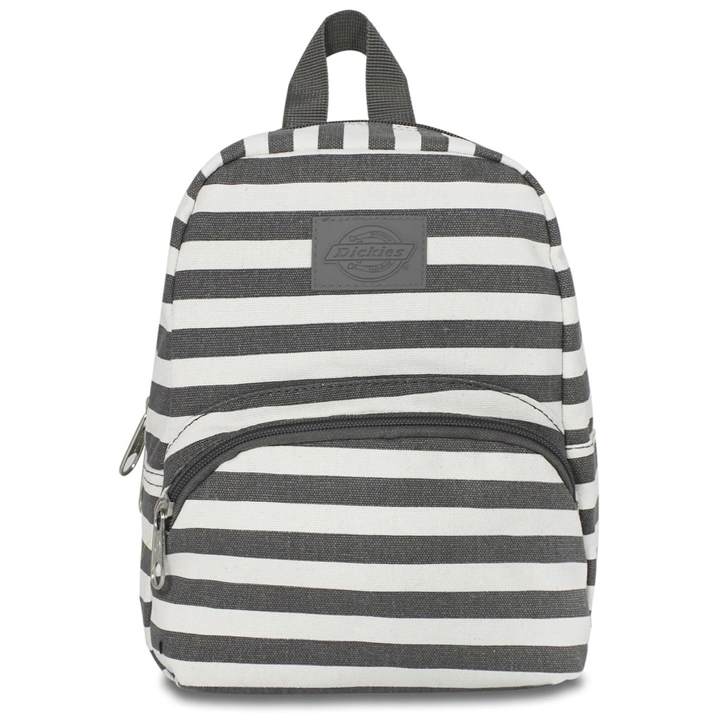 Dickies Mini Charcoal Stripe Canvas Backpack