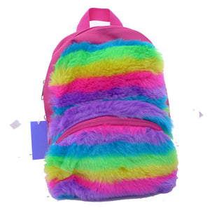 Dickies Mini Rainbow Faux Fur Backpack