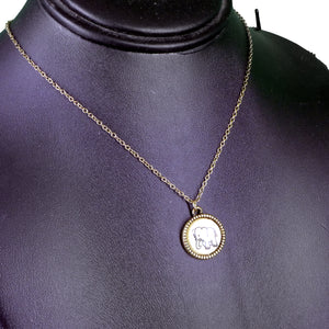 Elephant Round Necklace