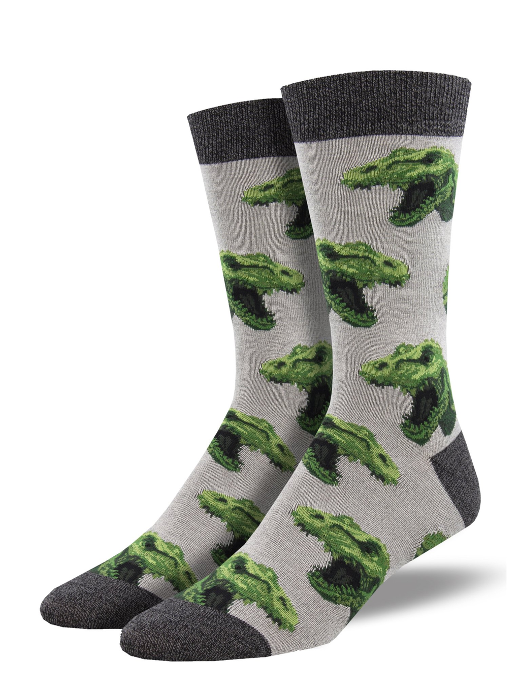 Rex Your Muscles Gray Heather Men's Socks