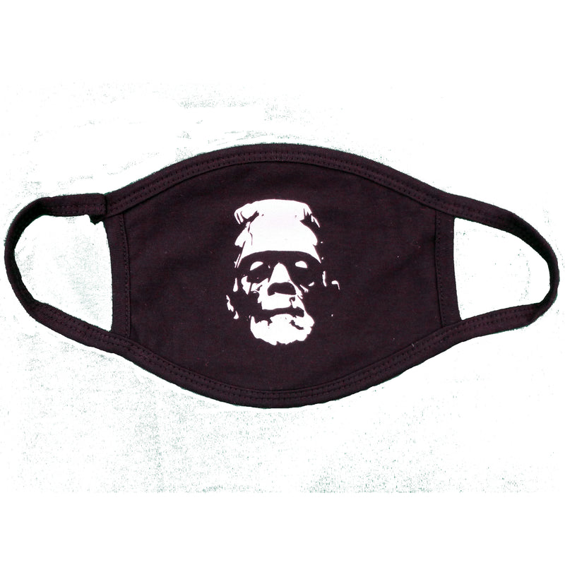 Frankenstein Blk/Wht Face Mask