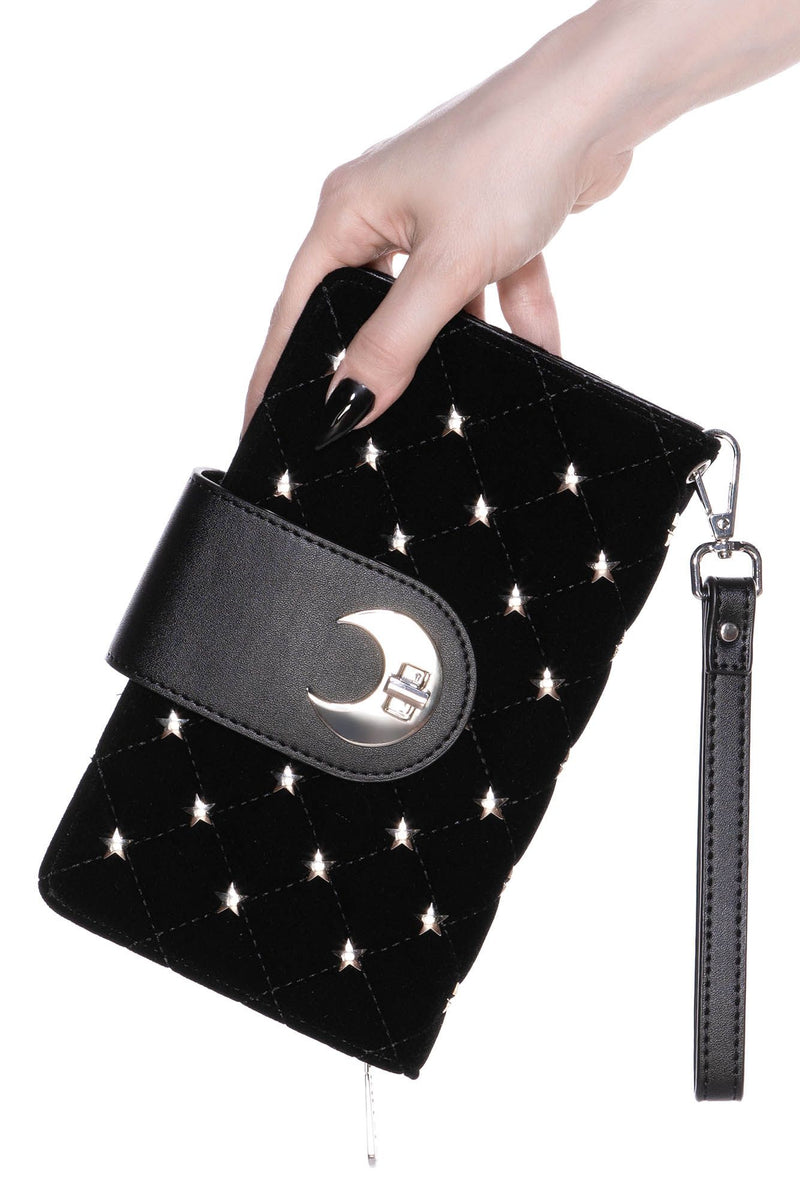 Midnight Moon Velvet Wallet