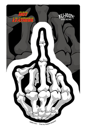 Middle Finger Die Cut Sticker