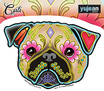 Cali Pug Sticker