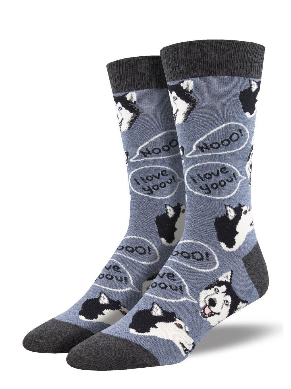 Howling For You Demin Heather Men's Socks