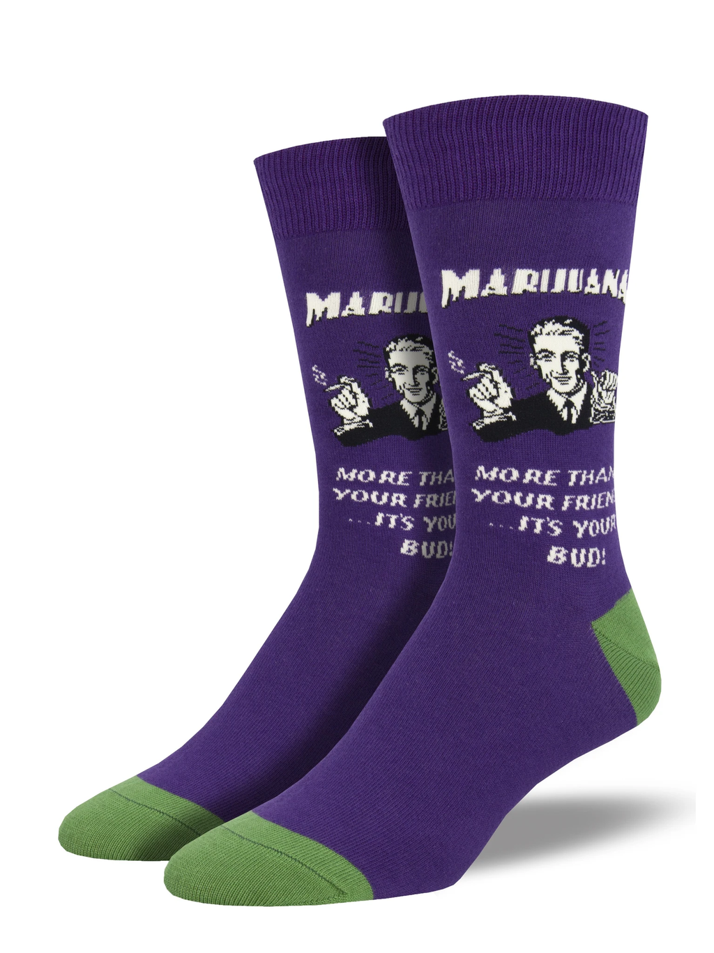 Best Buds Purple Men's Socks