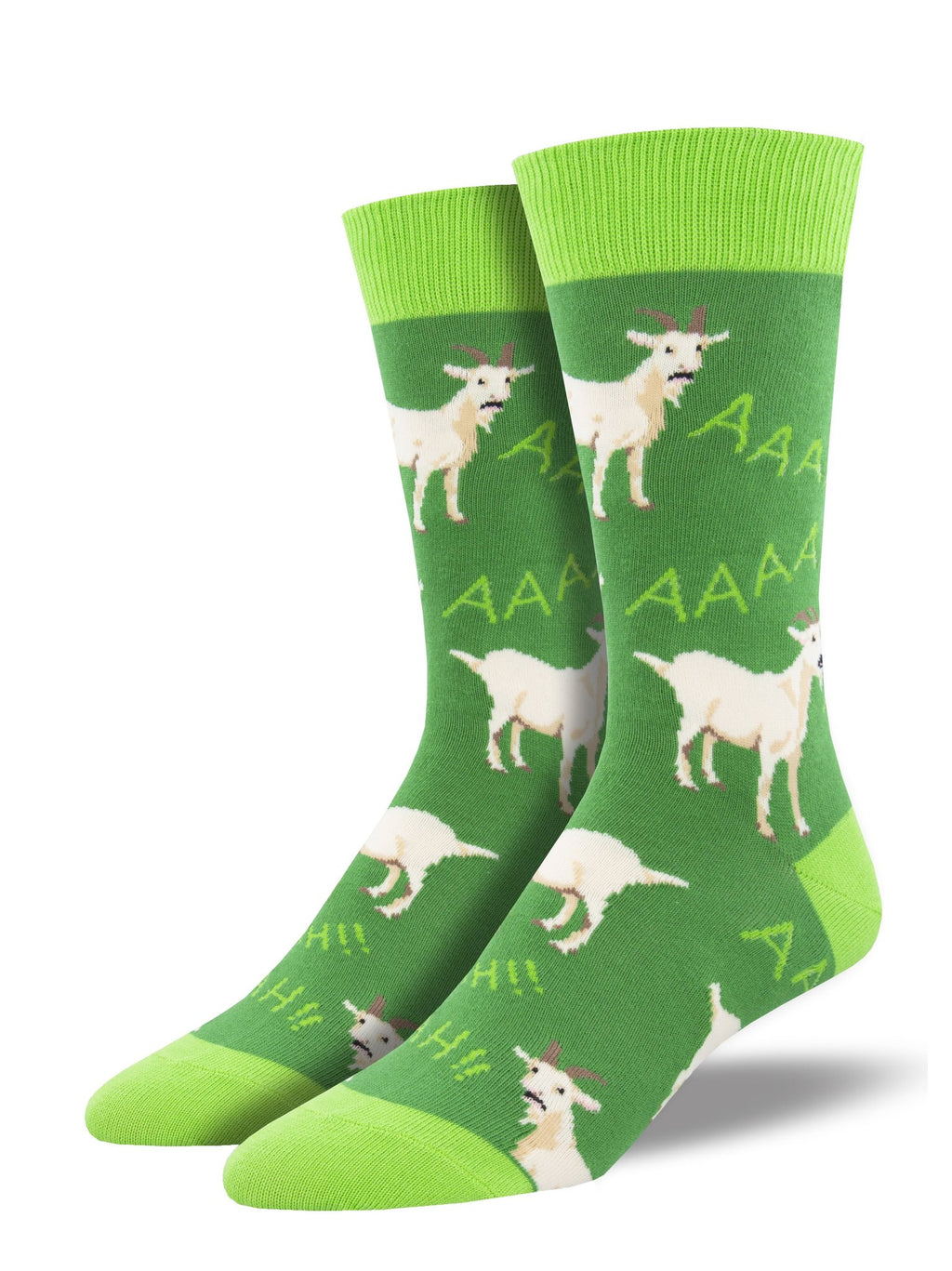 Screaming Goats Green Men's Socks