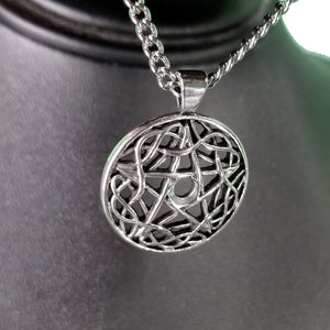 Pentacle Silver In Swirl Necklace