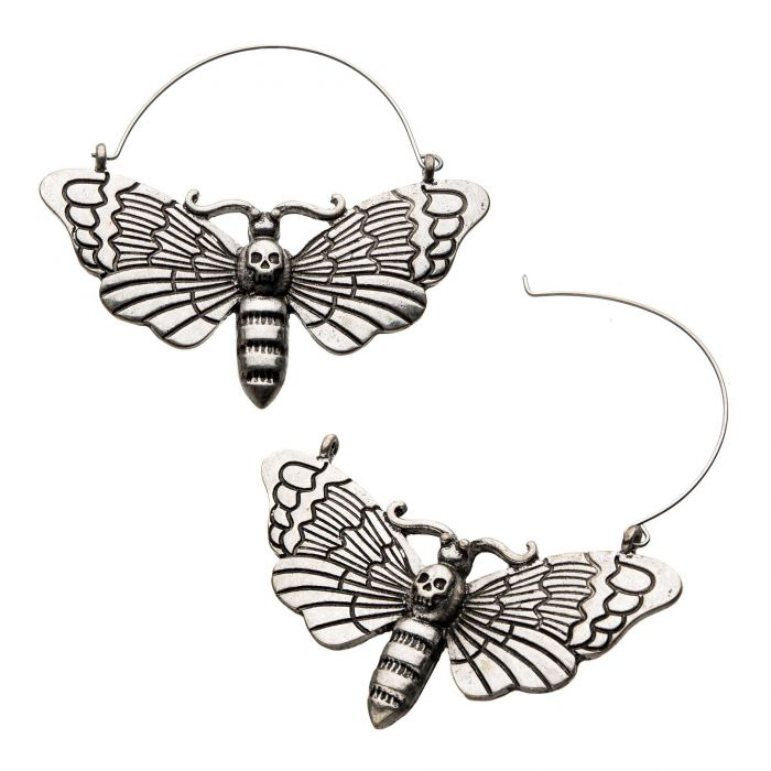 Death Moth Plug Hoops
