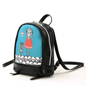 Frida Orange Dress Mini Backpack