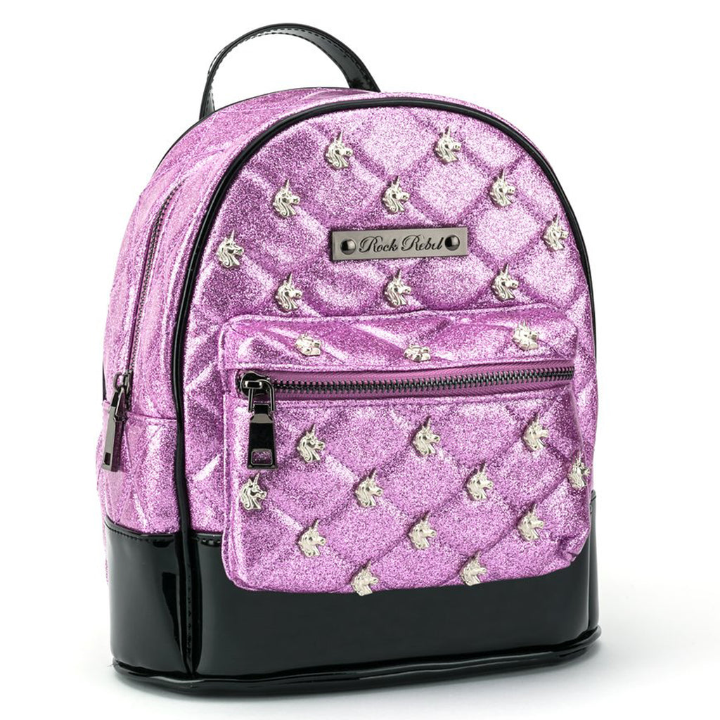 Pink Glitter Unicorn Mini Backpack